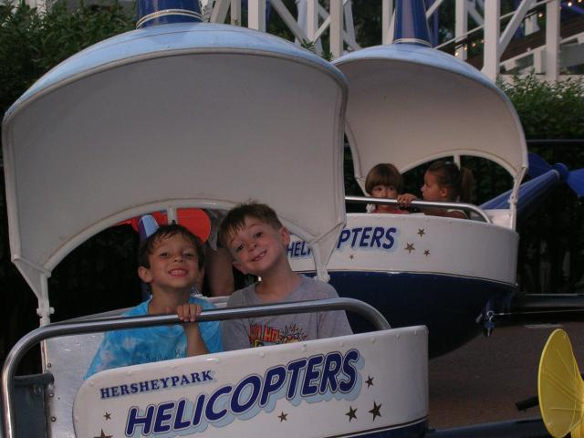 Bryce and Michael at Hershey Park