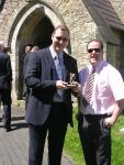 John and Mark with the trophy..