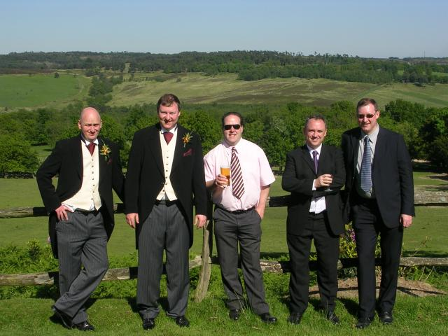 The lads at the reception